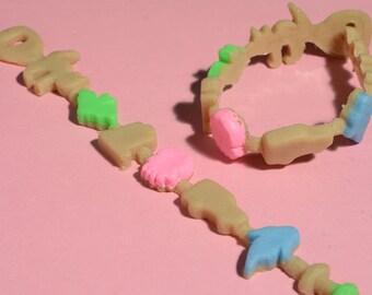 Gothic Lolita Creepy Crunch Cereal Bracelet - Creepy Cute -Ghoulish Graveyard Mix