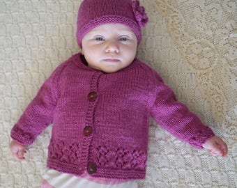 Harriet Cardi and Hat - Baby Cakes by lisaFdesign - Bc66 - Download Now - Pattern PDF