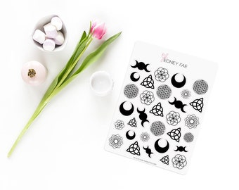 Magical symbols Stickerset-handmade stickers-pretty planning-scrapbooking-bullet journaling