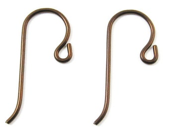 TierraCast Earwires-Antique Copper NIOBIUM With SMALL LOOP (10)