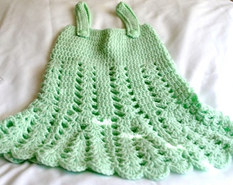 Crochet Baby Girl Tank Top Dress 0-3 Months