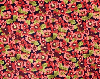 Floral Medley Rouge by Springs Creative.  Fabric By The Yard