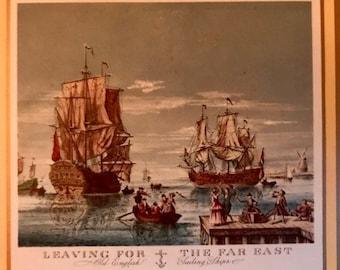 Six Vintage coasters - Sailing ships