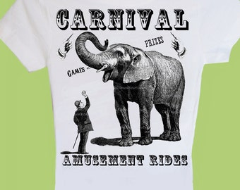 Carnival Shirt,Toddler Boy, Girl T-Shirt, Vintage Carnival, Circus Birthday Shirt, Elephant Circus, Family TShirts, ChiTownBoutique