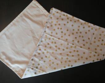 Gold Polka Dot Burp Cloth