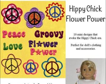 Pixie Faire Genniewren Designs Flower Power Design Set Machine Embroidery Designs
