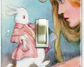 Vintage Alice in Wonderland Single Switch Plate  ***FREE SHIPPING***