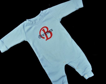 Personalized Baby Sleeper - Baby Boy Gift - Baby Girl Gift - Coming Home Outfit for Boy - Baby Boy Romper - Monogrammed