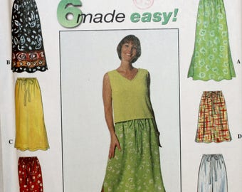 Skirt Sewing Pattern - Simplicity 7513 - Pants Sewing Pattern - Long Skirt Sewing Pattern - New - Uncut - Size XS, S, M