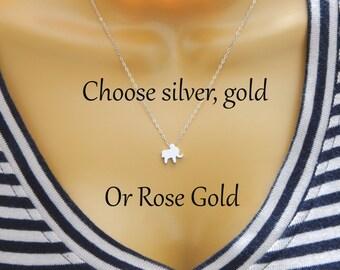 Choose your metal Elephant Necklace,Elephant Charm Necklace,Lucky elephant ,Elephant Lover Necklace,Gift For Elephant Lover,Elephant Jewelry