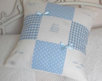 Personalised Baby Memory Cushion