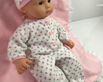 Bitty Babydoll Sweet Pink Rosebud Sleeper