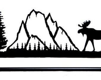 Metal art moose quilt hanger