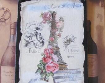Paris Bedroom Decor, Romantic French Decor, Eiffel Tower Decor French Country, Eiffel Tower Sign, Pink Roses, Shabby Cottage Chic, Victorian