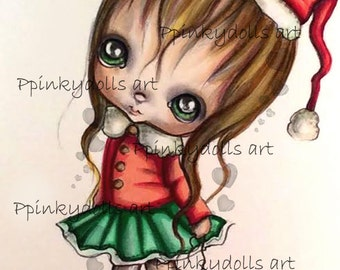 INSTANT DOWNLOAD Digital Digi Stamps..by Chrishanthi's art Christmas party''