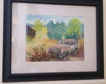 Original watercolor painting - SUMMER DAYS
