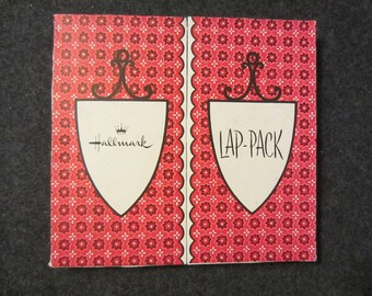 Vintage Hallmark LAP-PACK Cute Kitschy Stationery Writing note Envelope Set cute retro mid century