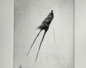 levitation. Original Etching
