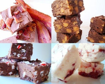 Julie's Fudge - Fudge Lover's SAMPLER Pack - SIX Flavors - One and a Half Pounds