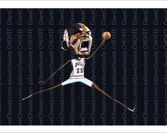 NBA, Chicago Bulls, Michael Jordan Art Print