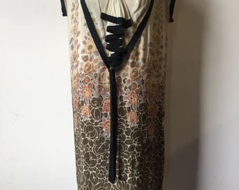 1920s Pongee Silk Dress AS IS (Display only)