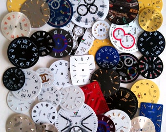Steampunk Watch Faces Dials 40 pcs Watch Parts Jewelry Making Altered Art Supply