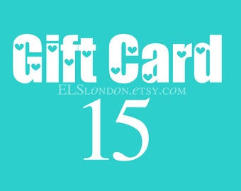 instant download gift card, Gift certificate, Gift card, voucher gift, gift for best friend, birthday gift for her, jewelry gift