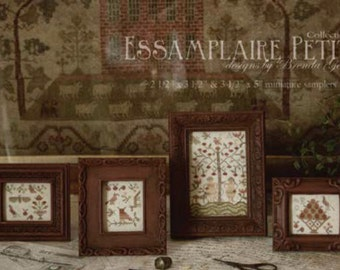 WITH THY NEEDLE Essamplaire Petite Collection 2 cross stitch pattern sampler folk