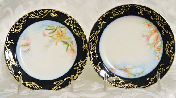 Limoges Hand Painted Porcelain Plates