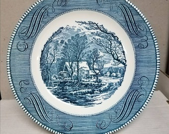 Currier and Ives 10in dinner plate by Royal China