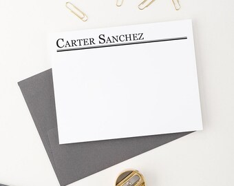 Personalized stationery for men, Personalized Correspondence cards, Personalized Note cards, Custom Stationery, Stationary for men -  ML001