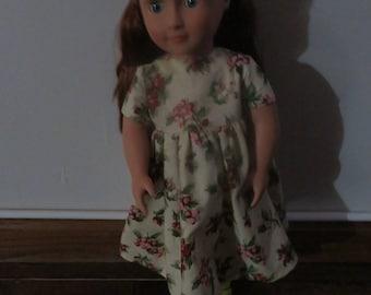 Christmas 18 Inch Doll Dress