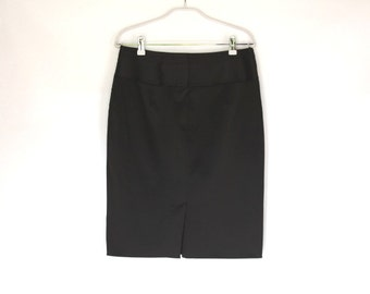 Black Pencil Skirt /Under Knee Tight Skirt / Fashion Skirt / Casual Skirt /Strong Pencil Skirt / Size Medium