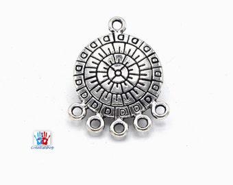 Round Tibetan silver chandeliers, engraved round antique silver chandelier CAph017 - set of 4/6/8/10 units