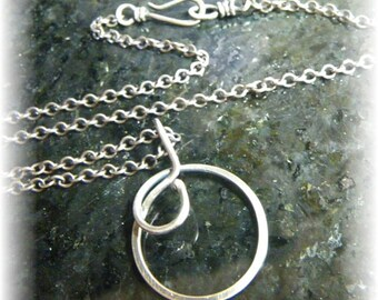 Sterling Silver Chain E with Sterling Clasp 18 Inch Made to Order - Hand-Antiqued Finish