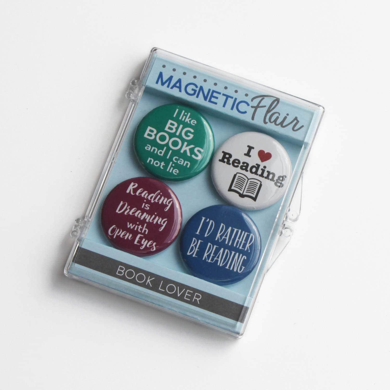 Book Lover Magnet Set Book Lover Gift Book Magnets