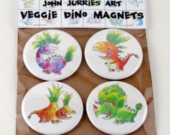 Veggie Dinosaurs Magnets