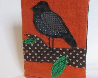 Beautiful Bird applique notebook A6