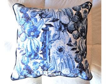 Model Blue Cactus Cushion