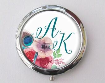 Purse Mirror, Custom Bridesmaid Gift, Personalized Compact Mirror, Bridesmaid Compact