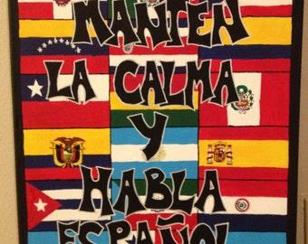 Keep Calm & Speak Spanish Poster