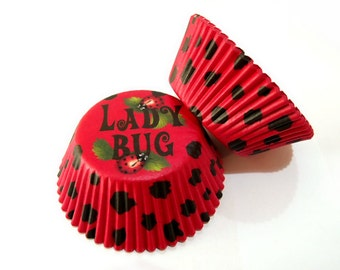 Red Lady Bug Cupcake Liners (50)