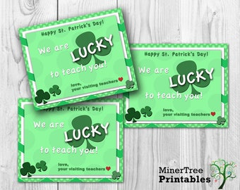 St. Patrick's Day Visiting Teaching Gift Card, LDS Printable, Visiting Teaching Printable Card