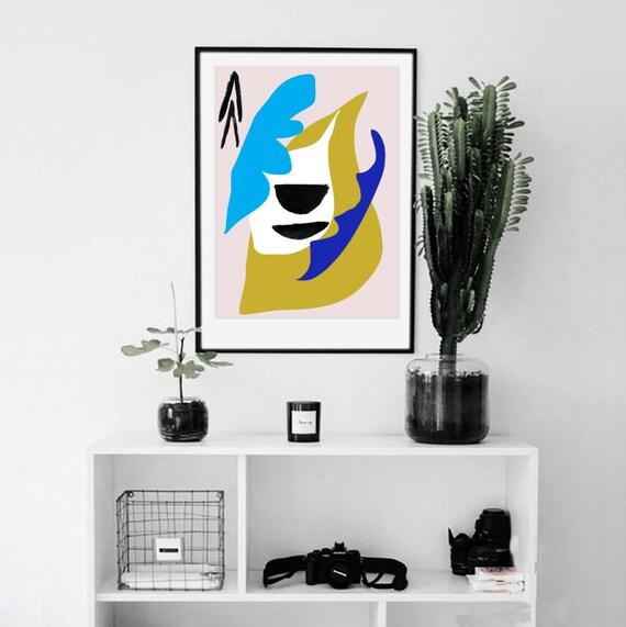NIVÉAL // Mid Century poster, 18x24, abstract art, scandinavian,