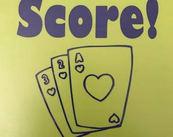 Score! Playing Card Decal