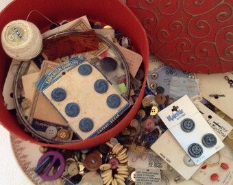 Button Lot - Lots of Buttons  - Over Two pounds - mixed buttons - Estate Sale