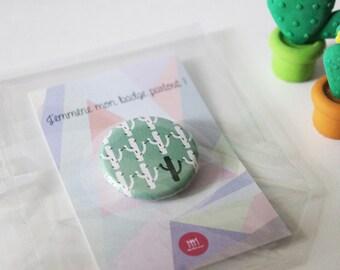 Multi cactus is handmade original child badge