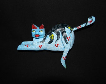 Blue Two Faced Shelf Kitty by Pablo Sosa