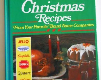 Vintage Cookbook - New Treasury of Christmas Recipes - Holiday Cooking - Brand Name Food Companies