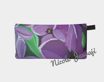 Lilac Macro Pencil Case 9x4 Digital Print Original Artwork
